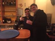 14.2., 23:41 Uhr. Restaurant Kabir. Absacker mit Tito.